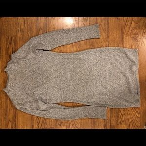 Very comfy gray sweater dress